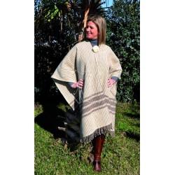 Poncho gala lana rayas