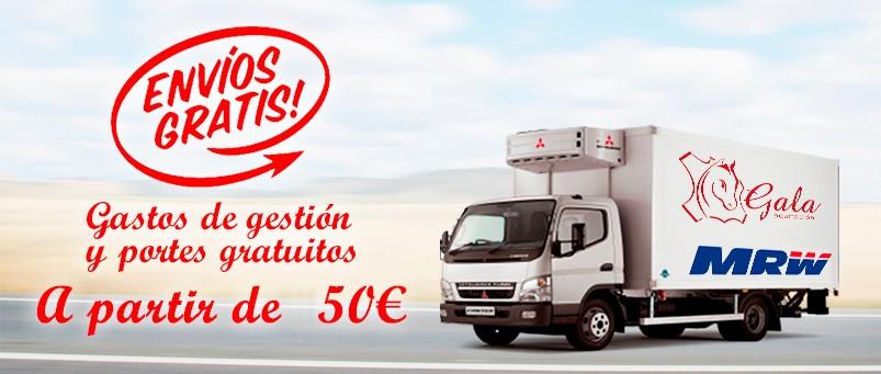 Imagen de gastos de gestión y Portes gratuitos a partir de 150€